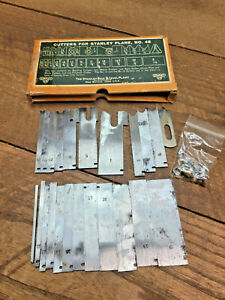 L1320-  Antique Stanley Sweetheart No. 45 Combination Plane Cutters