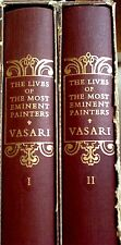 "Vintage 2 Volumns ""Lives Of The Most Eminent Painters"" by Georgio Vasari  EUC"