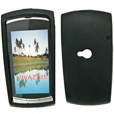 Silicona TPU, móvil cover case funda en negro para Sony Ericsson Vivaz-u5