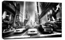 LARGE NEW YORK STREETS TIMES SQUARE CANVAS BLACK &WHITE