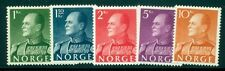 Norway #370-4 King Olav set, og, Nh, Vf