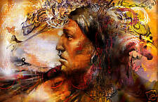 NATIVE AMERICAN INDIAN BRAVE SPIRIT NEW LIMITED EDITION PRINT ARTIST PROOF 11X14