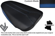 ROYAL BLUE & BLACK CUSTOM FITS APRILIA TUONO 125 REAR PILLION LEATHER SEAT COVER
