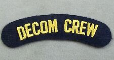 US Navy Decommissioning Crew Patch - Tab - Arc
