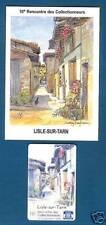carte téléphone LISLE-SUR-TARN - rue Mirabelle (chat, pountet, ruelle) 1998 + CP