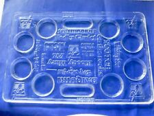 "Vintage Clear Acrylic Cocktail Tray 23"" x 15"" x 1"""
