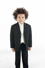 Boys Suits 5 Piece Black Suit Wedding PageBoy Formal Party 5 colours 0-3m-14Yrs