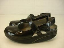 Womens 6.5 M MBT Sawa Black Patent Leather Sandals Slingback Mary Jane Comfort