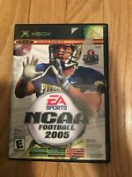 NCAA FOOTBALL 2005 - XBOX - COMPLETE WITH MANUAL - FREE S/H - (DD)