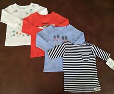 Carter's Lot Of 4 Shirts For 9 Month Baby Girl B19