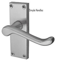 1 Sets Victorian Scroll Lever Latch Door Handles 118 x 40mm Brushed Satin Chrome