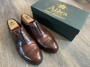 Alden 920 Straight Tip Balmoral dress shoes 9.5D Brown. Hampton Last.