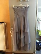 NAF NAF_robe Maxi Enchanteresse Grise Bustier A Volants 42 Neuf mariage Wedding