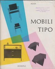 Pubblicità brochures Aloi Mobili tipo Hoepli 1960 c.a.