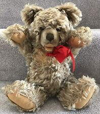 Vintage Steiff Zotty Caramel Mohair Jointed Growler Teddy Bear 1950 German 14.5""