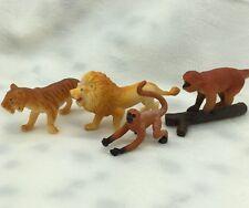 1990's Safari LTD SPIDER MONKEY Animal Figurine Replica On Log Lot of 4 Tiger