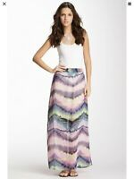 NEW Olive & Oak Maxi Long Skirt Sz XS.  Pastel Wash. Lined To Knee. Side Slits