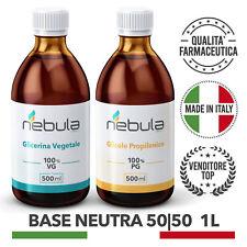 KIT Base Neutra NEBULA VAPING LAB  1 LITRO  50VG/50PG per sigaretta elettronica