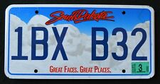 "SOUTH DAKOTA "" GREAT FACES - MOUNT RUSHMORE "" 2015 SD Graphic License Plate"