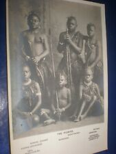 More details for old postcard the pigmies african boys photo by downey c1900s