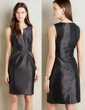 ANTHROPOLOGIE NWT Cross-Front Sheath Dress by Maeve Black Shimmer LBD Sz 6P $178