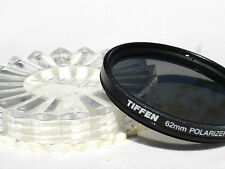 TIFFEN 62mm POLARIZER -  polarizing filter with case only U.S.A.  #00595