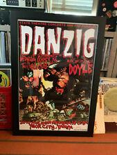 Danzig Large 20 x 30 Rare Concert Venue Poster Signed A/P Tour Punk Rock Misfits