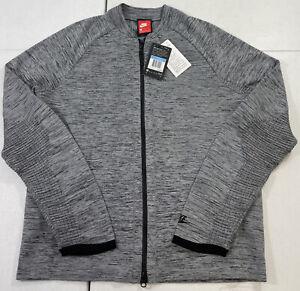 Nike Tech Knit Full Zip Jacket 832178 Zip Carbon Grey/Black Men's Size Medium