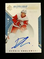 2018-19 SP Authentic #213 Dennis Cholowski FW AU/949* RC