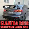 Rear Trunk Wing Spoiler Lancer Stype Unpainted for HYUNDAI 2017-2019 Elantra AD