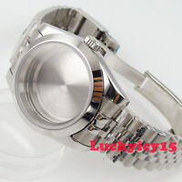 39mm polished watch case fit for NH35A NH36 movement sapphire glass bracelet