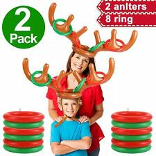 2Pack Inflatable Reindeer Antler Ring Toss Game Christmas Party Xmas Toy Gift