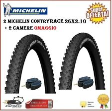 2 Copertoni Bici Mtb 26 Michelin Country Race 26x2.10 Gomma Pneumatico Rigido