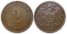J 11   2 Pfennig Kaiserreich 1904 G in SS+  502859