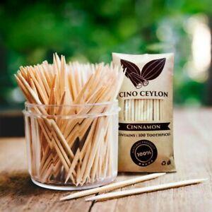 Premium Quality Ceylon 100% Natural Cinnamon Toothpicks 100nos  Unique product