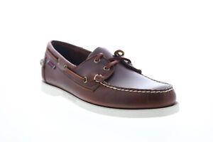 Sebago Portland Dockside Waxed chaussures bateau  pour hommes en cuir marron