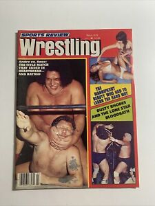 Sports Review Wrestling Magazine March 1979 Apartment Wrestling Women Andre