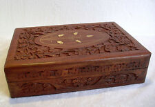 "Hand Carved Wooden Box - Xlarge 12"" x 8"" / 30cm x 20cm"