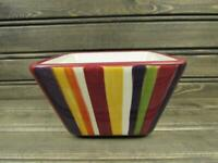 Simple Additions Stripes by Pampered Chef Square Fruit Bowl Multi Color Stripes