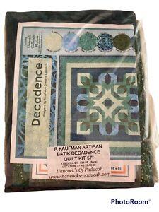 "R Kaufman Decadence Quilt Kit New Batik Fabrics 57""x57"" Pattern In 2 Sizes"