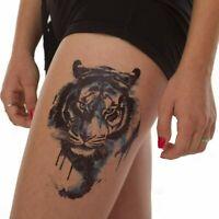 Large Blue Tiger Temporary Waterproof Tattoos Women Mens Fake Body Sticker Art