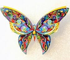 Butterfly Moth Large Multicolor Acrylic Pin Brooch Jewelry