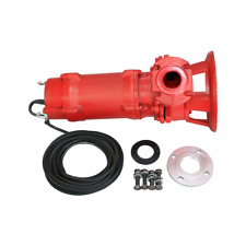 Industrial Sewage Cutter Grinder Sump Pump 66 GPM 110V 2 HP Submersible Red