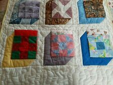 Quilt Handmade Wall Hanging Child's Pockets For Toys Coverlet