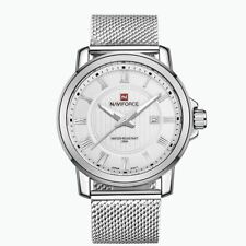Mens Watch Silver Mesh Boys Smart Analogue Watches Business Gift Present UK