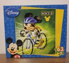 Disney Sports Mickey Mouse Bicycle Puzzle 63 Pieces Factory Sealed 2007 NEW