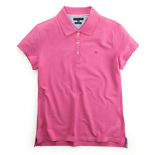 TOMMY HILFIGER KURZARM POLO SHIRT TOP BLUSE HEMD SLIM FIT ROSA  GR XL