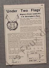 Publicité Under Two Flags  London miniatures Postdamer advert