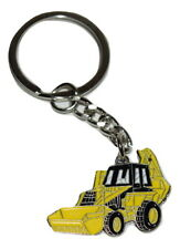 JCB Digger Keyring - Farming Gift Enamel with Keychain Yellow Excavator Tractor