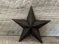 Primitive Metal Barn Star Black 5.5 inch Country Rustic Farm Decor